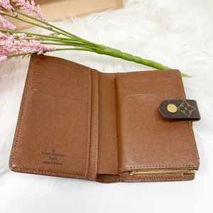 Louis Vuitton Monogram Kiss Lock Wallet TH0036